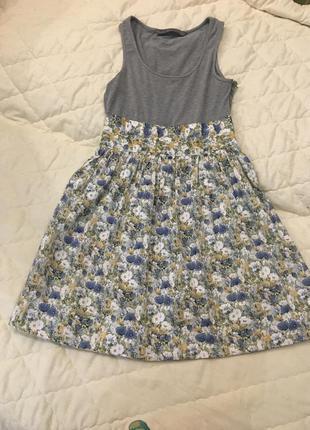 Платье сарафан в ромашки zara