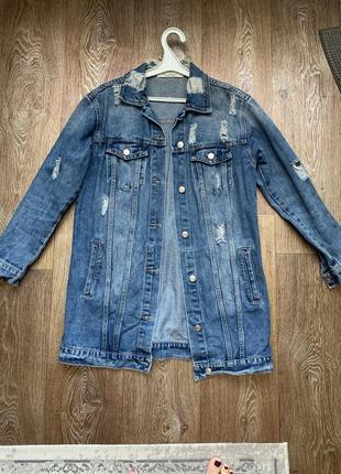 Джинсовая куртка, пиджак, джинсовка длинная