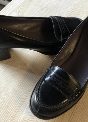 Туфли кожа лофери
