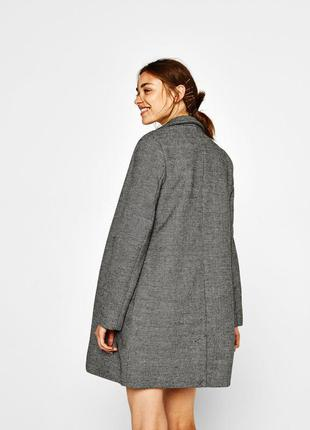 Новое шерстяное пальто bershka в клетку осень зима 2017 2018 xs,s,m,l оверсайз oversize