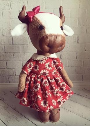 Корова текстильная