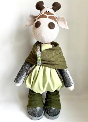 Игрушка текстильная жираф- девочка