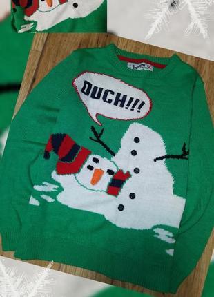 Прикольный свитер джемпер со снеговиком