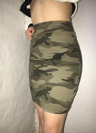 Камуфляжная юбка карандаш