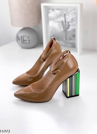 Туфельки на стильном каблуке. 36-40
