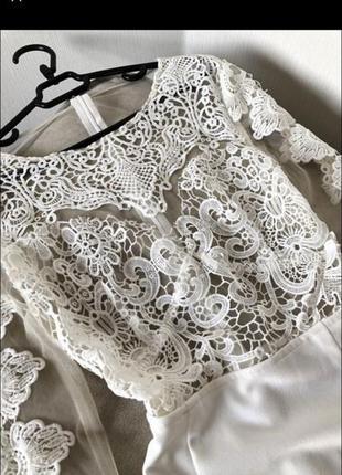 Шикарне плаття з мереживом2 фото