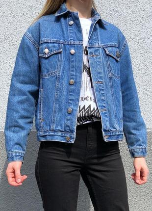 Винтажная джинсовая куртка джинсовка оверсайз