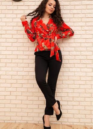 Ефектний костюм блуза брюки 3 кольори s m l xl