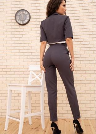 Укорочённый жакет брюки высокие s m l