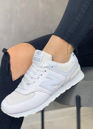 Кроссовки белые, натуральная кожа, весенние