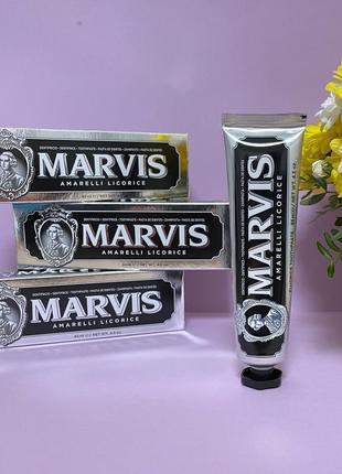 Зубная паста marvis со вкусом лакрицы и мята 85 мл