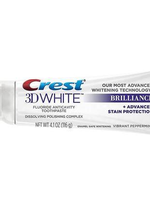 Зубная паста crest 3d white brilliance vibrant peppermint whitening toothpaste