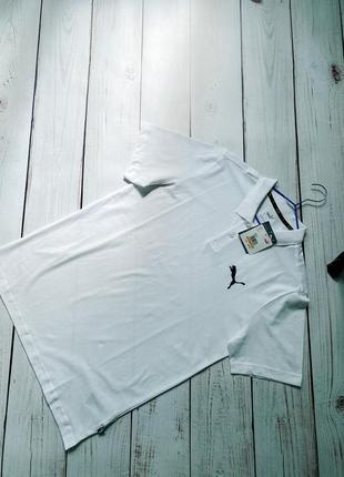 Мужская футболка поло puma белая