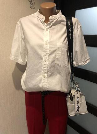 Лёгкая белая рубашка кофточка блузка