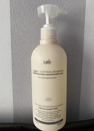 Профессиональный шампунь lador с протеинами шелка и кератином triplex natural shampoo