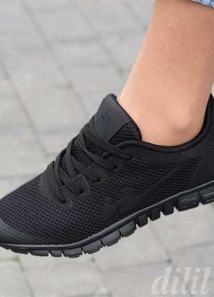 Кроссовки женские летние весенние черные - жіночі кросівки чорні літні весняні