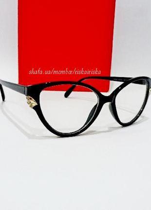 Имиджевые очки кошечки,очки для имиджа, оправа лисички.