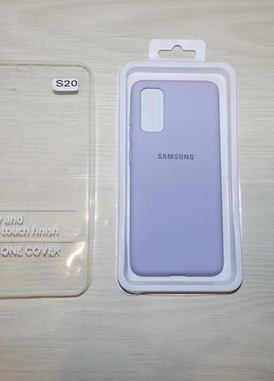 Чехол samsung silicone cover фиалковый для samsung s20 g980