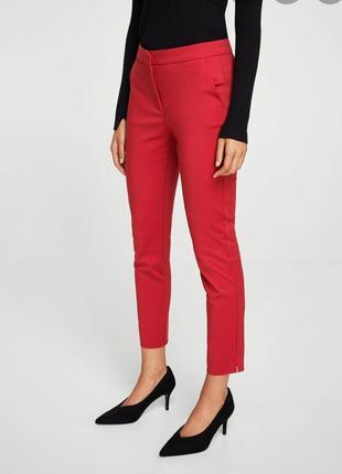 Новые брюки красные 34, mango