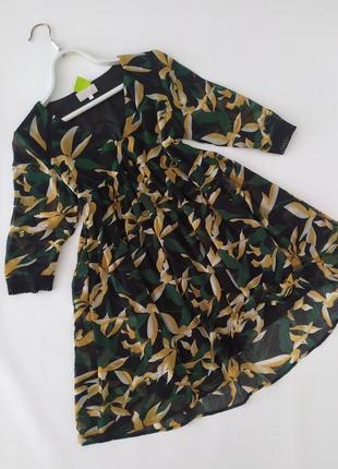 Воздушное платье в тропический принт grace&mila