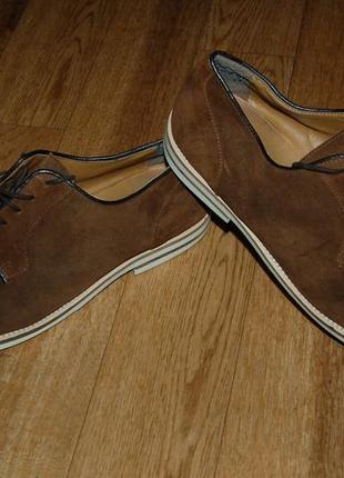 Кожаные туфли 45 р zara man
