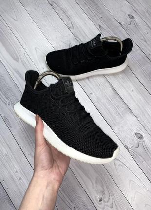 Женские кроссовки adidas tubular черные сетка весна лето кроссы адидас