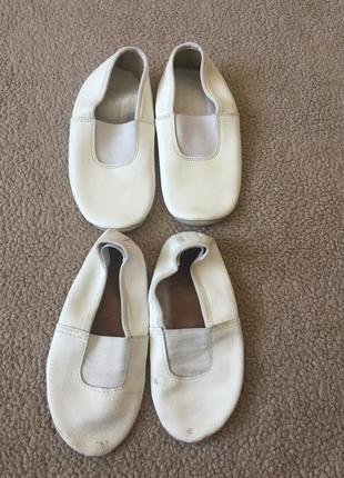 Белые кожаные чешки