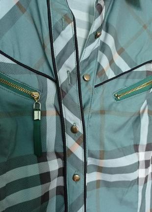 Рубашка зелёная kalicyu