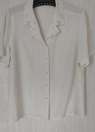 Блузка молочного цвета винтаж