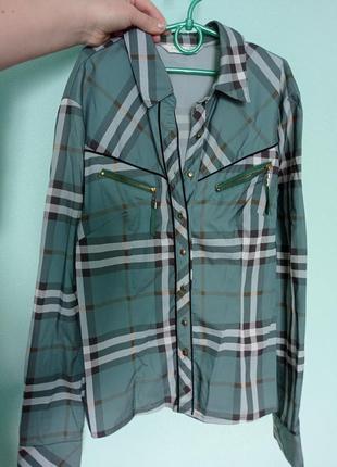 Рубашка зелёная kalicyu3 фото