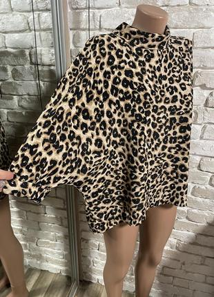 Леопардовая блуза большой размер батал