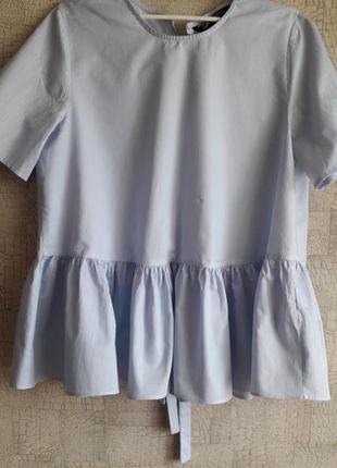 Класная хлопковая блуза с оригинальными завязками сзади.