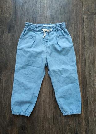 Штанишки момы, легкие джинсы 3-4 года