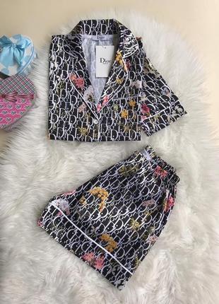Пижама с шортами, качество люкс, стамбул, размер м.