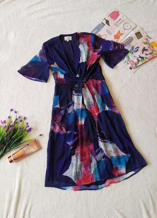 Платье миди женственное міді сукня