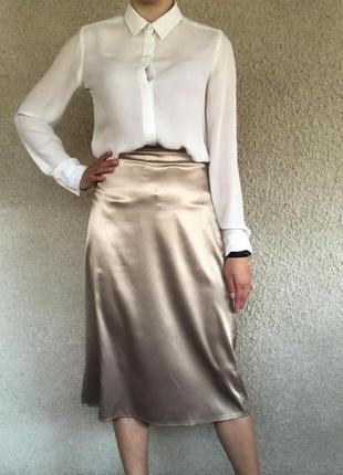 Атласная юбка, хит лета 2021