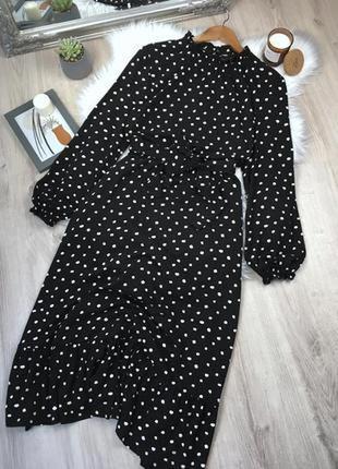 Платье макси в горошек от dorothy perkins