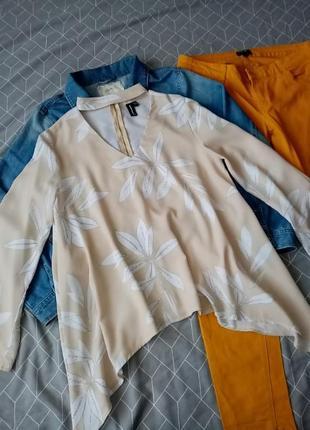Нюдовая блуза с чекером