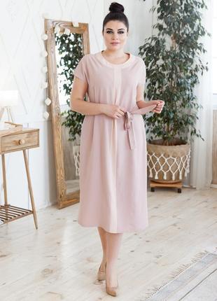 Летнее платье прямого кроя большие размеры2 фото