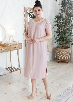 Летнее платье прямого кроя большие размеры4 фото