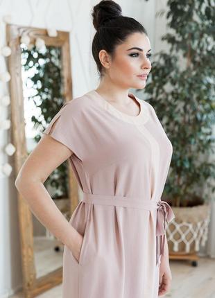 Летнее платье прямого кроя большие размеры6 фото