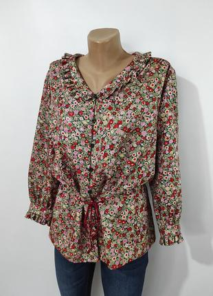Вінтажна сорочка в квіти\блуза\винтажная блуза в цветочек
