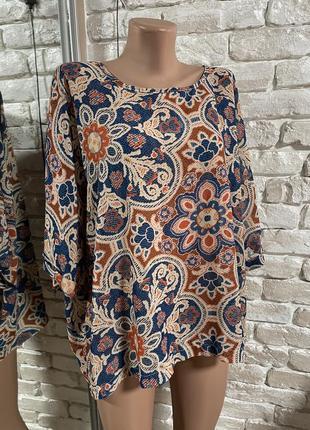 Легкая блуза большой размер
