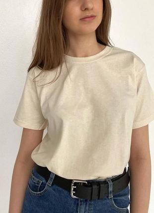 Унисекс футболка oversize 100% хлопок🥛
