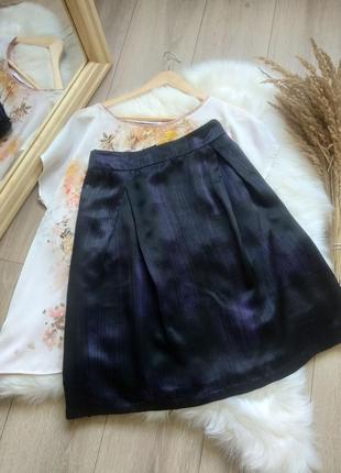 Jjb benson шовкова спідниця прямого крою офісна юбка трапеція міді  100% шовк розмір m l в стилі jil sander