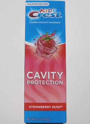 Зубная паста для детей со вкусом клубники - crest kid´s anticavity cavity protection
