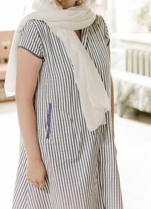 Красивое льняное платье ,сарафан1 фото