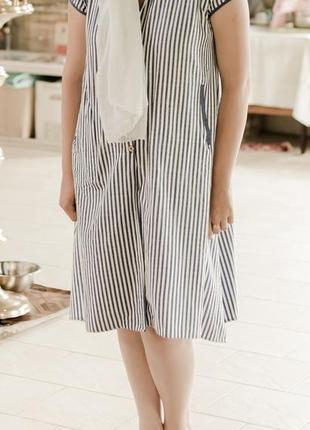 Красивое льняное платье ,сарафан2 фото
