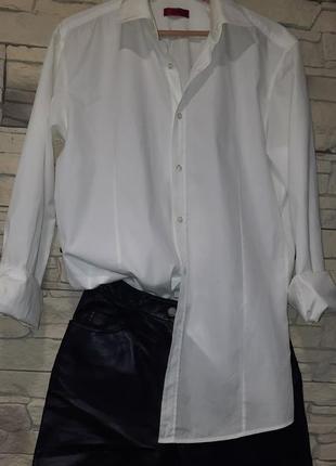 Брендовая рубашка оверсайз