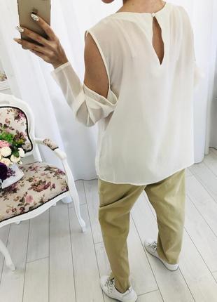 Блузка из натурального шёлка с кружевом4 фото